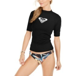 Roxy Juniors' Whole Hearted Short Sleeve Rash Guard Women's Swimsuit found on MODAPINS from Macy's for USD $30.00