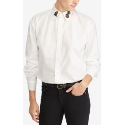 Polo Ralph Lauren Cotton Bullion-Patch Boyfriend Shirt found on MODAPINS from Macy's for USD $72.50