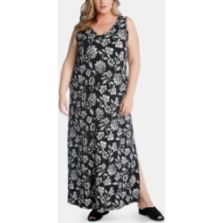 Karen Kane Plus Size Floral-Print Maxi Dress