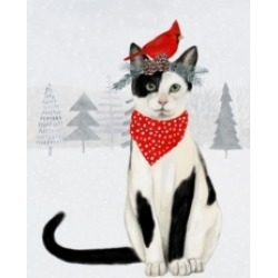 "Victoria Borges Christmas Cats and Dogs Vi Canvas Art - 15.5"" x 21"""