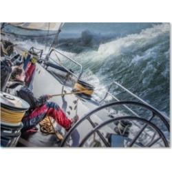 Michael Delman 'Storm In San Francisco Bay' Canvas Art - 32