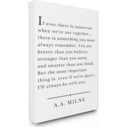 """Stupell Industries I'll Always Be With You A.a. Milne Canvas Wall Art, 16"""" x 20"""""""