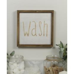 "Vip Home International Wood ""Wash"" Sign"