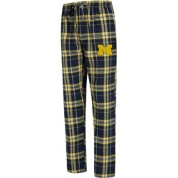 Concepts Sport Men's Michigan Wolverines Hillstone Flannel Pajama Pants found on Bargain Bro India from Macy's for $39.99