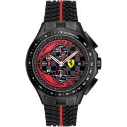 Scuderia Ferrari Watch, Men's Chronograph Race Day Red and Black Silicone Strap 44mm 830077 found on Bargain Bro India from Macy's Australia for $334.67