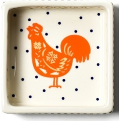 Coton Colors by Laura Johnson Chinese Zodiac Rooster Square Trinket Bowl