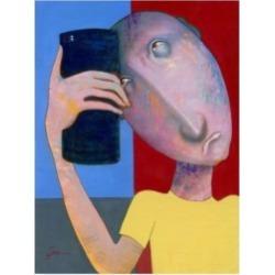 Ronny Z Selfie Abstract Canvas Art - 15.5