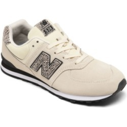 New Balance Big Girls 574 Animal Print Casual Sneakers from Finish Line