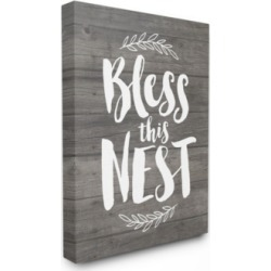 Stupell Industries Bless This Nest Planks Canvas Wall Art, 30