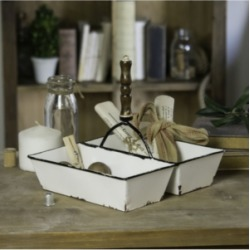Vip Home & Garden Metal Tray with Handle