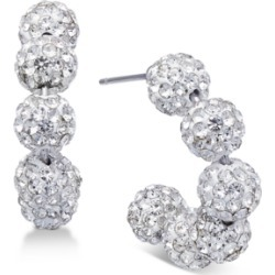 Inc Silver-Tone Pave Fireball C-Hoop Earrings, Created for Macy's found on Bargain Bro Philippines from Macy's for $8.66