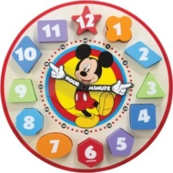 Melissa and Doug Mickey Mouse Wooden Shape Sorting Clock