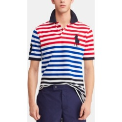 Polo Ralph Lauren Men's Classic-Fit Striped Mesh Americana Polo Shirt found on MODAPINS from Macy's for USD $98.50