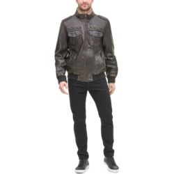 Levi's Men's Faux-Leather Aviator Bomber Jacket with Fleece Lining found on MODAPINS from Macy's for USD $89.99