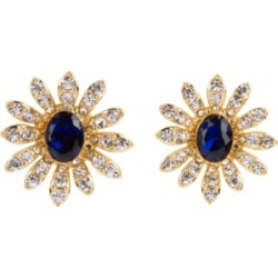 Grace Kelly Collection 18k Gold Plated Flower Clip On Earring