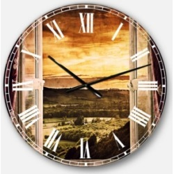 Designart Contemporary Oversized Round Metal Wall Clock found on Bargain Bro Philippines from Macy's Australia for $275.67