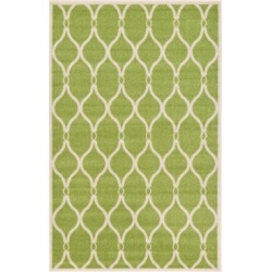 Bridgeport Home Arbor Arb6 Green 5' x 8' Area Rug found on Bargain Bro India from Macy's for $194.00