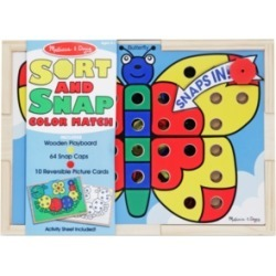 Melissa and Doug Kids Toy, Sort and Snap Color Match