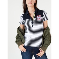 Tommy Hilfiger Striped Colorblocked Polo Shirt found on MODAPINS from Macy's for USD $34.99