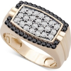 Men's Diamond Cluster Ring (1 ct. t.w.) in 10k Gold found on Bargain Bro India from Macy's for $3000.00