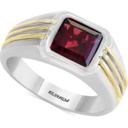 Effy Men's Rhodalite Garnet Two-Tone Ring (3 ct. t.w.) in Sterling Silver & 14k Gold