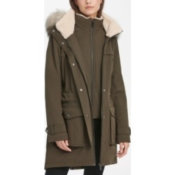 Dkny Faux-Fur-Trim Hooded Parka Coat found on MODAPINS from Macy's for USD $99.99