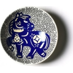 Coton Colors by Laura Johnson Chinese Zodiac Horse Bowl