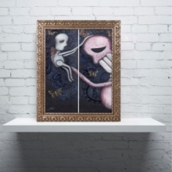Abril Andrade 'Letting Go' Ornate Framed Art found on Bargain Bro India from Macys CA for $64.11