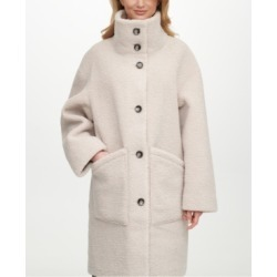 Dkny Reversible Faux-Shearling-Lined Coat found on MODAPINS from Macy's for USD $287.99