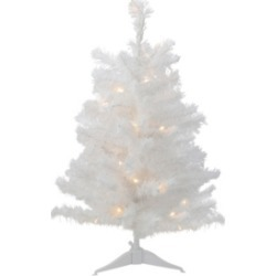 Northlight 3' Pre-Lit Led White Pine Artificial Christmas Tree - Clear Lights