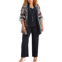 R & M Richards Plus Size 2-Pc. Layered-Look Jacket Top & Pants Set found on Bargain Bro from Macy's Australia for USD $95.36