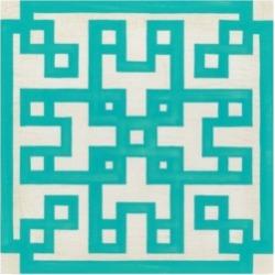 June Erica Vess Maze Motif Iii Canvas Art - 19.5