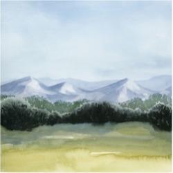 Grace Popp Blue Mountain Break I Canvas Art - 15.5