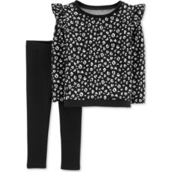 6cce76bf9ce3a Toddler Girl Carters Floral French Terry Peplum Top Leggings Set ...