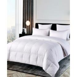 500 Thread Count Damask Stripe Duraloft Down Alternative King Comforter