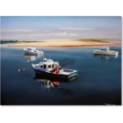 "Paul Walsh 'Cape Cod Fishing Boats' Canvas Art - 19"" x 14"" x 2"""