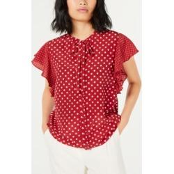 Marella Silk Polka-Dot Flounce-Sleeve Top found on Bargain Bro India from Macy's Australia for $303.64