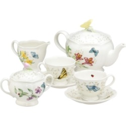 Lenox Butterfly Meadow 7-Piece Tea Set, Service for Two