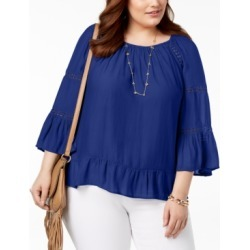 I.n.c. Plus Size Lace-Inset Top, Created for Macy's