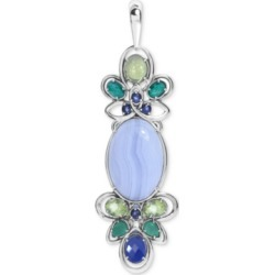 Carolyn Pollack Multi-Gemstone Pendant Enhancer (3-7/8 ct. t.w.) in Sterling Silver