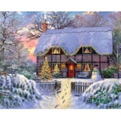 Springbok Puzzles Yuletide Cottage 1000 Piece Jigsaw Puzzle
