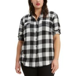 Levi's Plus Size Plaid Fleece Shirt