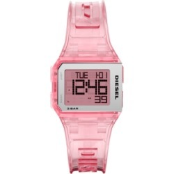 Diesel Men's Digital Chopped Pink Polyurethane Strap Watch 33x38mm found on Bargain Bro India from Macy's for $120.00