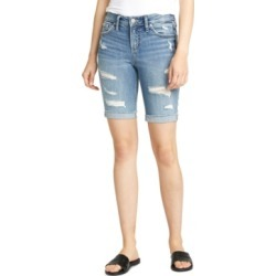 Silver Jeans Co. Suki Ripped Bermuda Shorts found on MODAPINS from Macys CA for USD $67.15