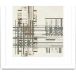 "Giant Art Matrix Illusion I Matted and Framed Art Print, 36"" x 36"""