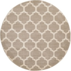 Bridgeport Home Arbor Arb1 Tan 6' x 6' Round Area Rug found on Bargain Bro India from Macy's for $100.50