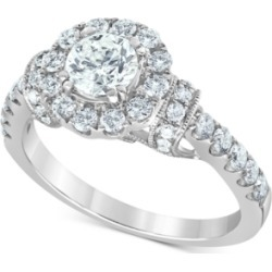 Diamond (1-3/8 ct. t.w.) Halo Engagement Ring in 14k White Gold found on Bargain Bro India from Macy's for $3991.60