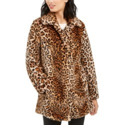 Anne Klein Leopard-Print Faux-Fur Coat found on MODAPINS from Macy's Australia for USD $208.87
