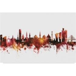 Michael Tompsett Copenhagen Denmark Skyline Red Canvas Art - 37