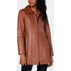 Anne Klein Stand-Collar Leather Jacket found on MODAPINS from Macys CA for USD $145.31